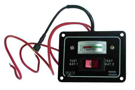 Battery test voltmeter monitor panel