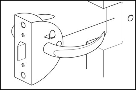 Z3342 Door Latch Installation Instructions