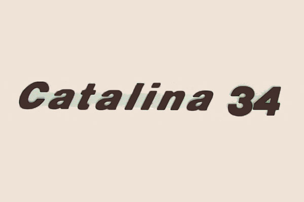 "<span style= >Logo ""Catalina 34"" Molded Plastic</span>"