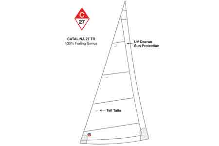 C-27 Tall Rig Genoa 135% Furling Offshore by Ullman