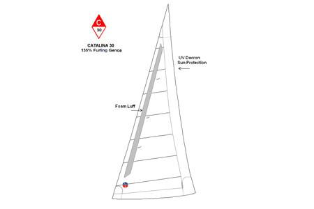 <span style= >C-30 Std Rig Genoa 135% Furling by Ullman</span>