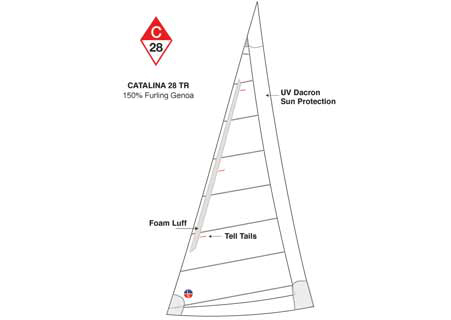 <span style= >C-28 Tall Rig Genoa 150% Furling by Ullman</span>