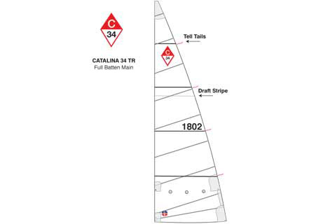 <span style= >C-34 Tall Rig Full Batten Main</span>
