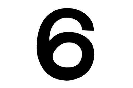 "<span style= >Sail Number ""6"" or ""9"" 10"" High</span>"