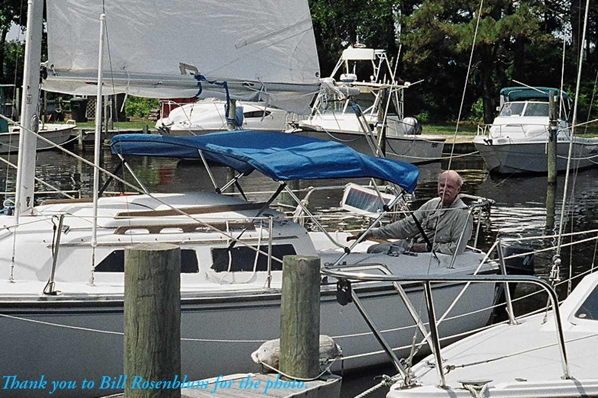 470 Sailboat Blue Sunbrella Boat Deck Cover