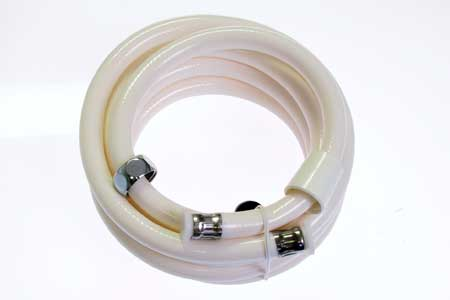 "<span style= >Shower Hose for Cockpit Shower 120"" White PVC</span>"