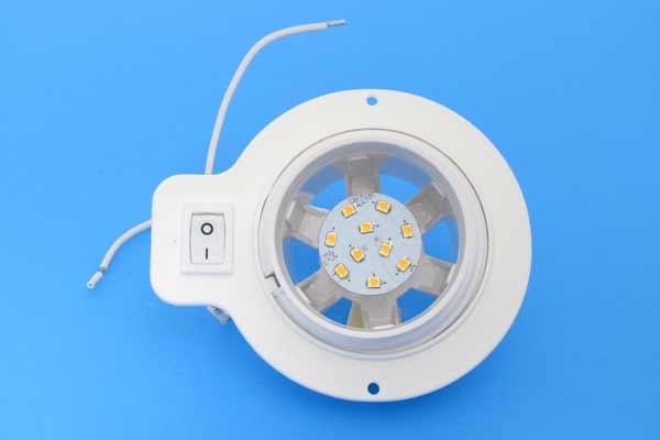 <span style= >Cabin Light White Plastic Swivel Eyeball LED</span>