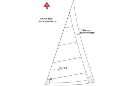 <span style= >CP-22 Std Rig Genoa 150% Furling by Ullman</span>