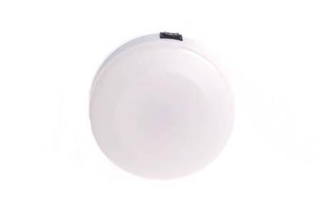 Cabin Light Round Plastic w/ Red & White Bulbs