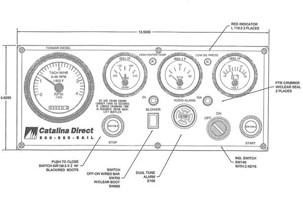 <span style= >Engine Instrument Seaward Panel Yanmar Catalina Direct</span>