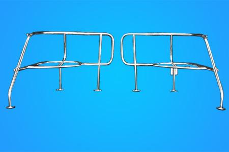 <span style= >Stern Pulpit C-34 MkI, C-36 MkI W/Walk Thru Transom Two Piece w/Seats</span>