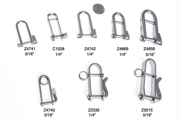 "<span style= >Shackle, Captive Key Pin, 1/4"" Pin: CP-14.2, C-15, CP-16, CP-16.5 Halyard</span>"