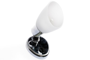 <span style= >Cabin Light Chrome Base w/Opal Glass Shade</span>