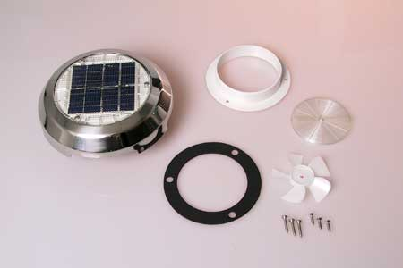 "<span style= >Vent Solar Powered <br/>3"" Stainless Steel</span>"