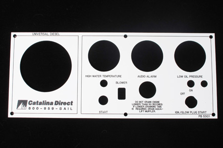 <span style= >Engine Instrument Seaward Panel Faceplate Only Universal</span>