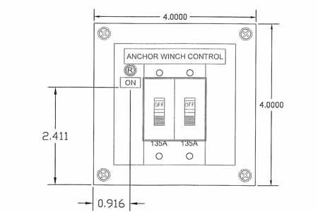 <span style= >Windlass Breaker Panel 135 Amp</span>