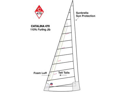 <span style= >C-470 Tall Rig Jib 110% <br/> Furling Offshore by Ullman</span>