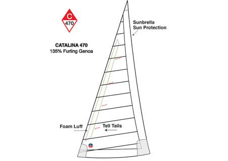<span style= >C-470 Tall Rig Genoa 135% Furling Offshore by Ullman</span>