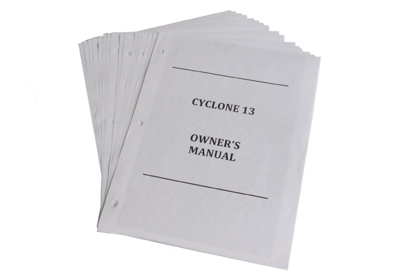 <span style= >Owners Manual, CY-13</span>