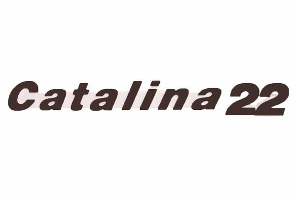 "<span style= >Logo ""Catalina 22"" Molded Plastic </span>"