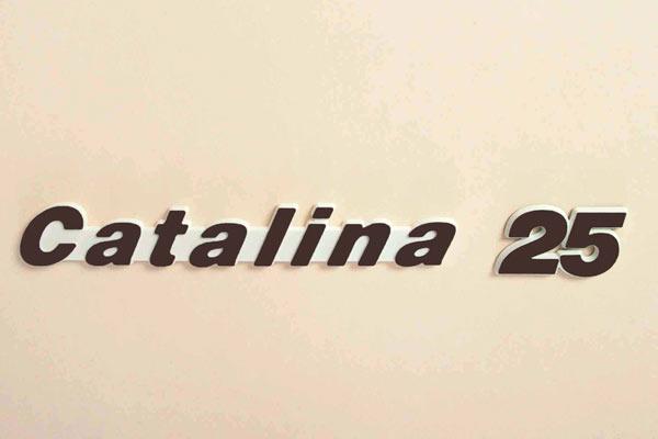 "<span style= >Logo ""Catalina 25"" Molded Plastic</span>"