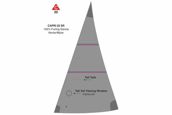 <span style= >CP-22 Std Rig Racing Genoa 155% Furling by Ullman</span>