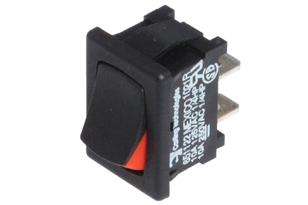 """<span style= >Rocker Switch, 3/4"""" x 1/2"""" Mounting Hole, Red ON Indicator</span>"""