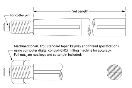 """<span style= >Prop Shaft, 59"""" to 70"""", 1-1/4"""" for C-400, C-440</span>"""