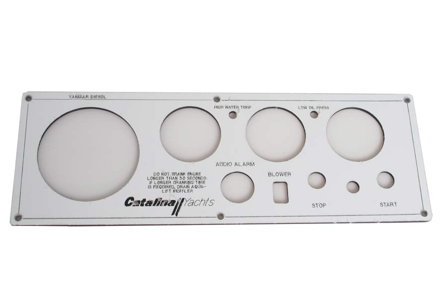 Engine Instrument Seaward Panel, Faceplate Only C-42 Vision Series