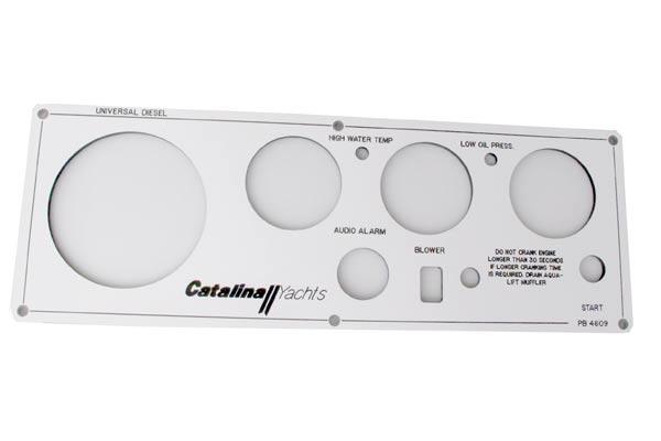 <span style= >Engine Instrument Seaward Panel Faceplate, C-350 w/ M-35BC</span>