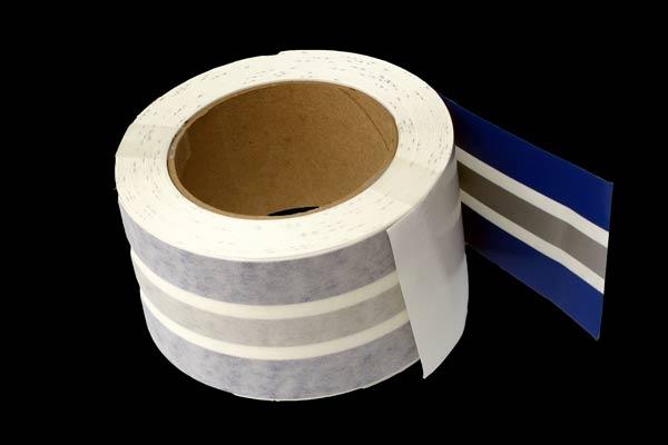 <span style= >50 Roll Sheer Stripe Tape<br/>Sapphire Blue, Silver, & Sapphire Blue</span>