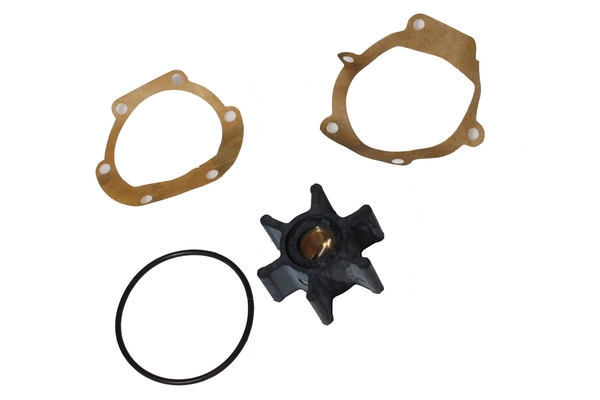 <span style= >Water Pump Impeller Kit 3YM Yanmars or 2GM/3GM, Pump w/ Cast In Straight Barbs</span>