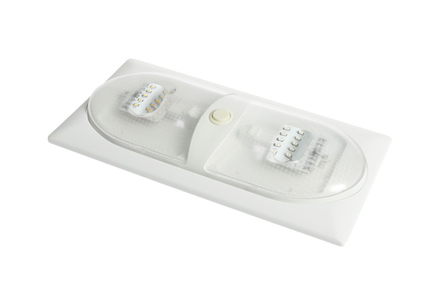 <span style= >Cabin Light Red and White LED w/ Bezel</span>