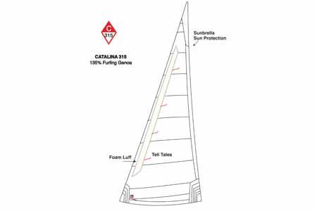 <span style= >C-315 Genoa 135% <br/>Furling Ullman Offshore</span>