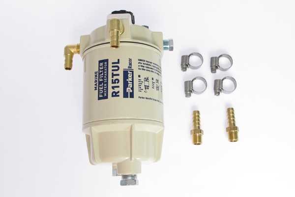 <span style= >Fuel Filter / Water Separator Kit, Aluminum Bowl</span>