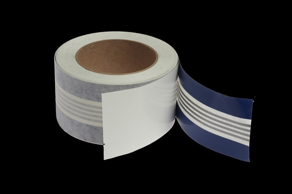 <span style= >50 Roll Sheer Stripe Tape<br/>Sapphire Blue, Silver, & Sapphire Blue</span>
