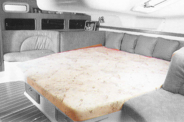 <span style= >C-380 Interior Cushions, Aft Cabin Innerspring Mattress Only</span>