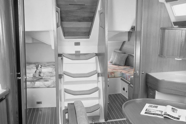 <span style= >C-42 3 Cabin, Interior Cushions or Innerspring Mattress, Aft Port Berth Only</span>