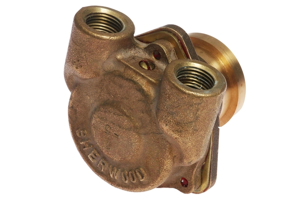 """<span style= >Water Pump, Late Sherwood 1/2"""" All Bronze Body Upgrade</span>"""