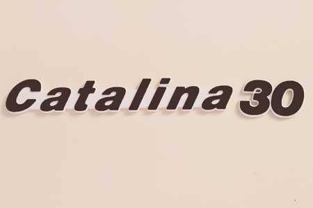 "<span style= >Logo ""Catalina 30"" Molded Plastic</span>"