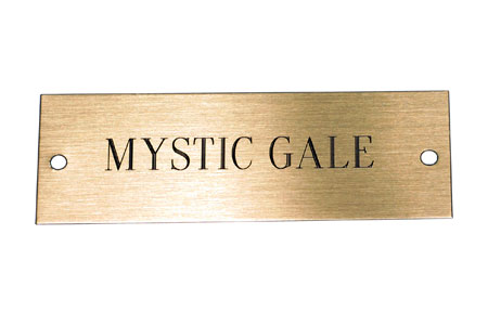 Engraved Plaque for Half Model
